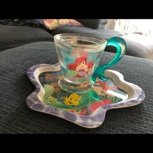 Disney The Little Mermaid Plate & Cup Lot